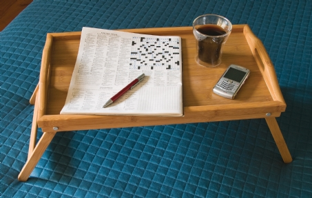 Bamboo Bed Tray with Folding Legs
