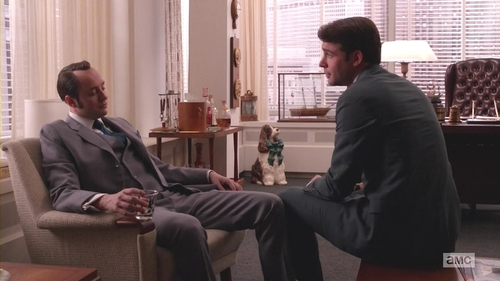 Mad Men, Favors, Pete and Bob Benson touch knees