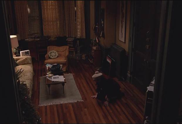 "Mad Men ""Time Zones"" Peggy on the floor of her apartment"