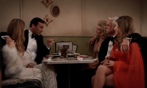 Mad Men episode 7.08: Severance, Don, Roger, 3 girls in a diner