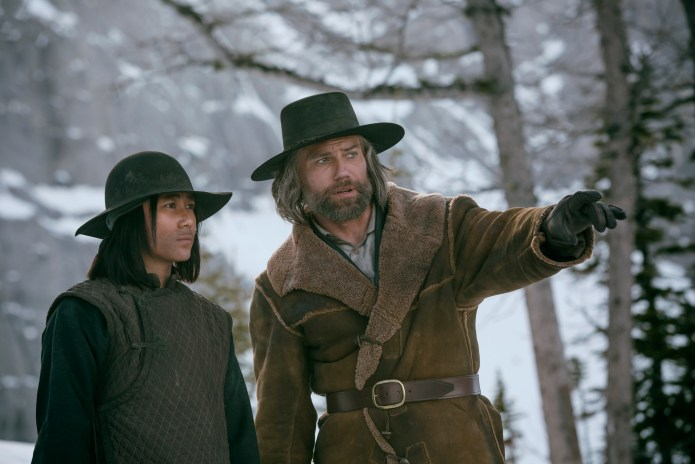 Hell on Wheels: A. Zhou as Mei Fong and Anson Mount as Cullen Bohannon - Hell on Wheels _ Season 5, Episode 2