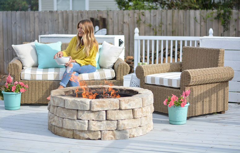outdoor refresh around the fire pit