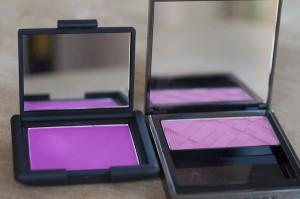 NARS Coeur Battant Blush vs Burberry Hydrangea Pink