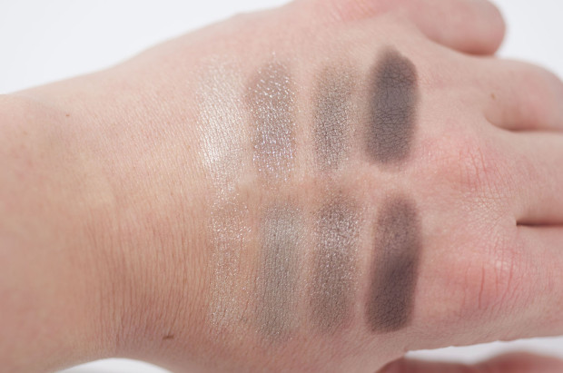 Charlotte Tilbury Rock Chick vs Tom Ford Silvered Topaz swatches