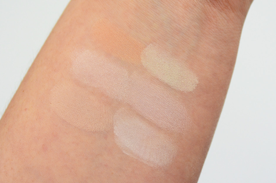 Hourglass Ambient Lighting Powder Swatches