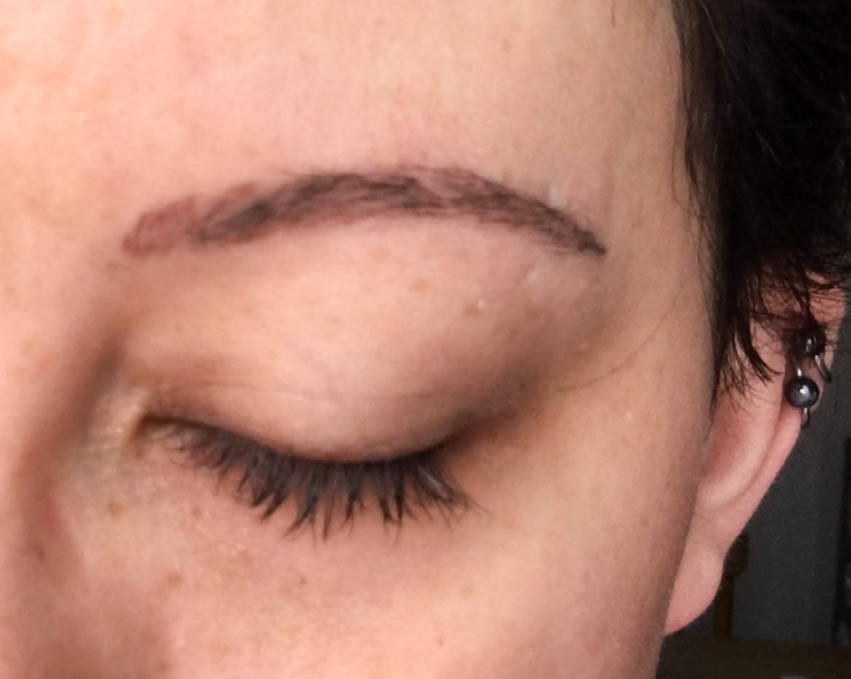 Eyebrow Tattoo Healed After 1st Session