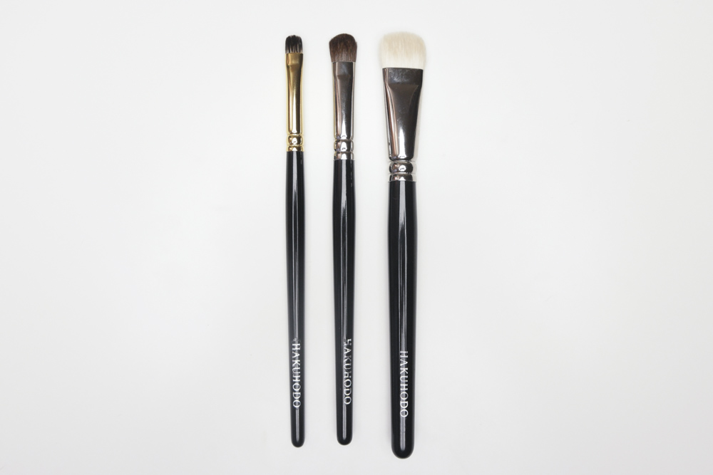 Hakuhodo Brushes - Flat Eye Brushes