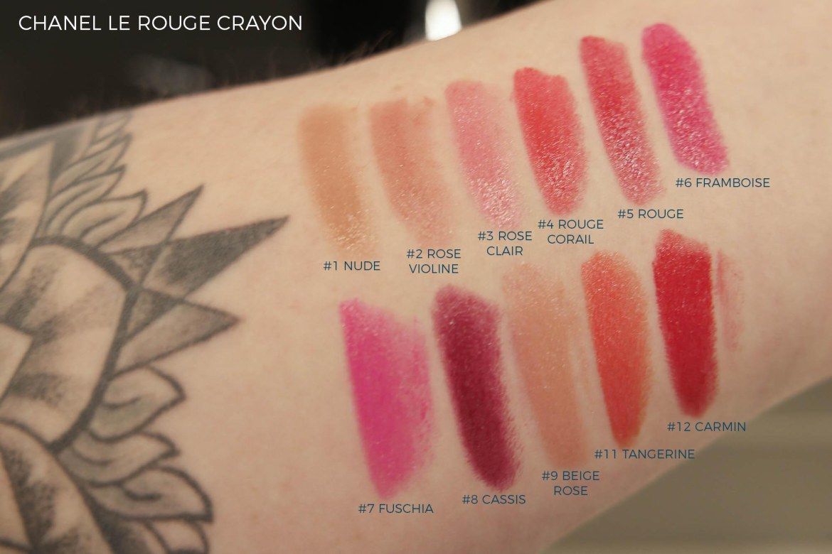 Lipstick swatches galore - Chanel Le Rouge Crayon