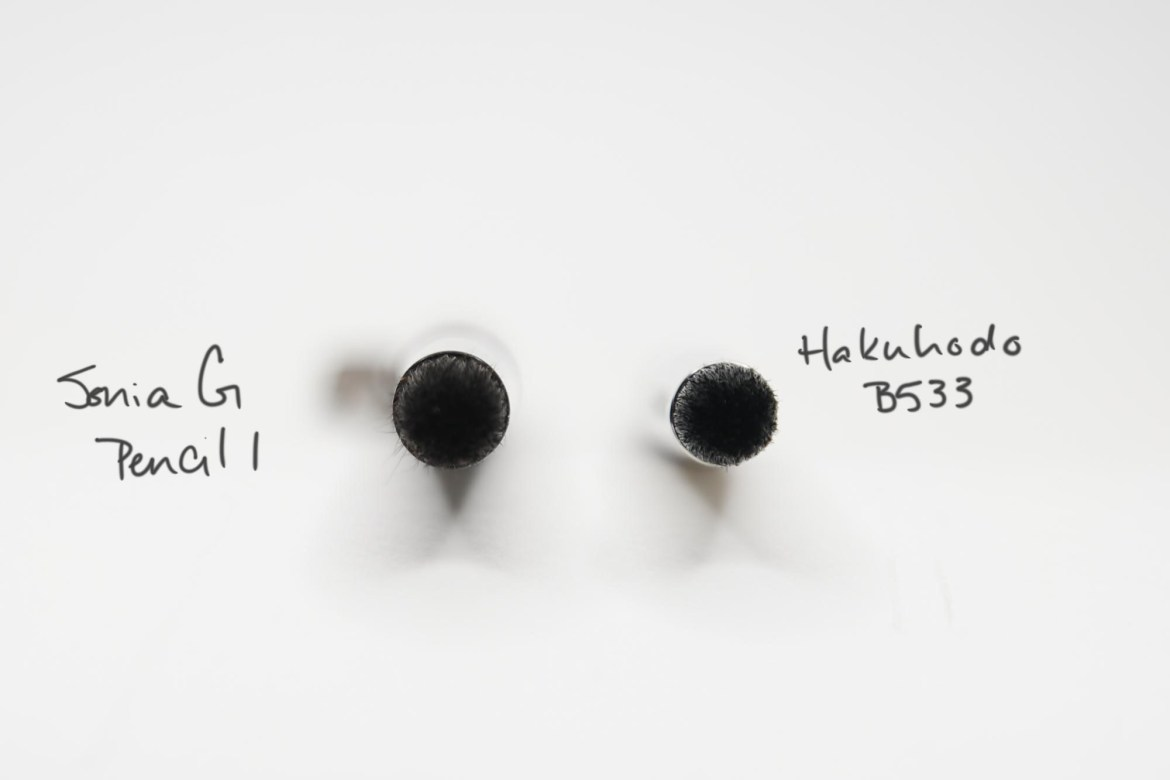 Sonia G Pencil 1 vs Hakuhodo B533
