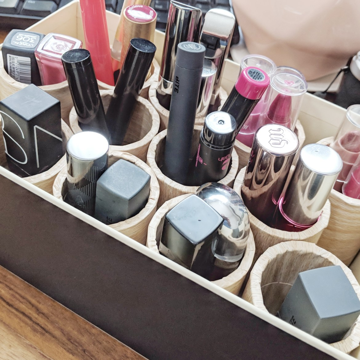 Upcycled Makeup Storage DIY