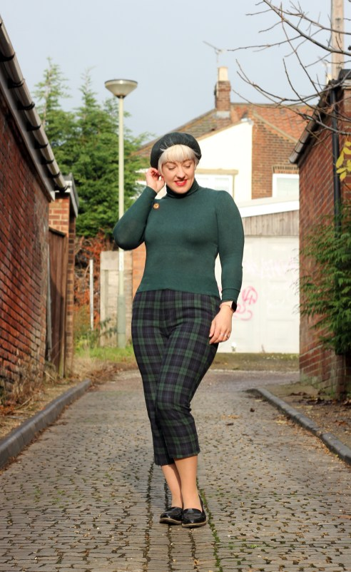 winter checked trousers