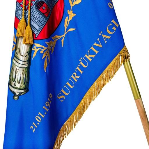 Erikujundusega pidulik lipp