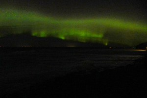 Not the most spectacular photo of northern lights you'll ever see but not bad for a point-and-shoot.