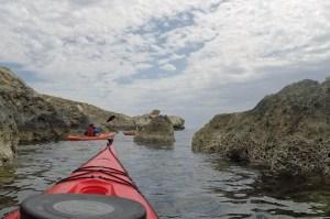 Rock-dodging along the Gozo coastline.