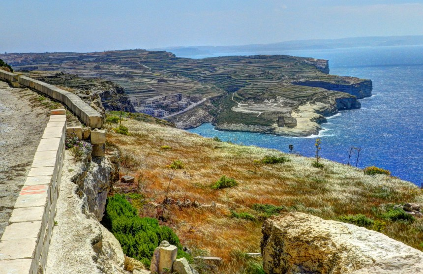 Looking back toward Xlendi from Wardija Point