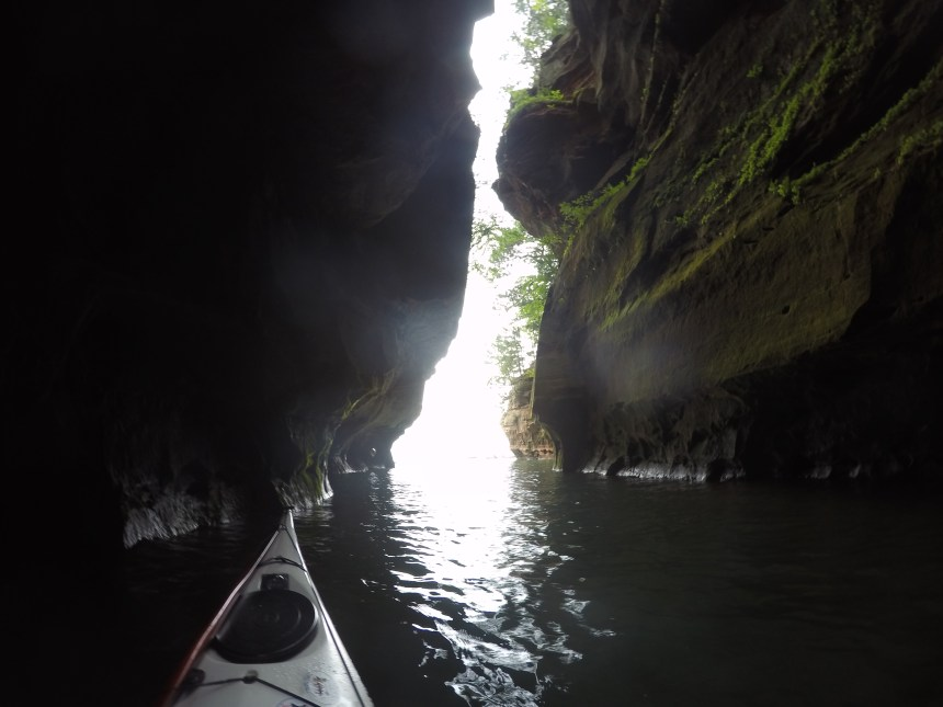 The view from deep inside the mainland feature known as The Crack