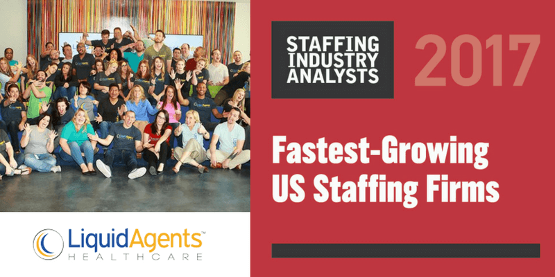 LiquidAgents Healthcare Named Fastest-Growing U.S. Staffing Firm by Staffing Industry Analysts