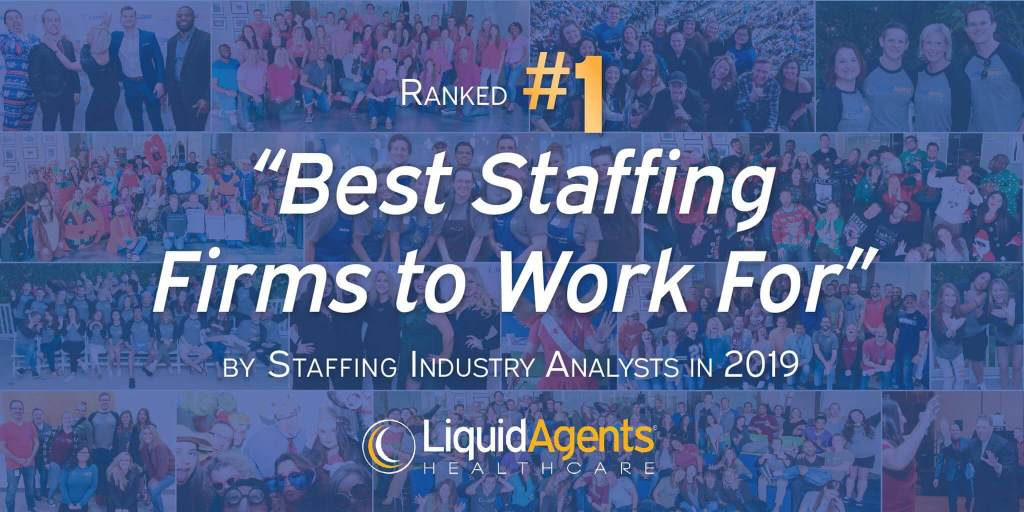 LiquidAgents Healthcare Earns Top Spot on SIA's 2019 Best Staffing Firms to Work For List