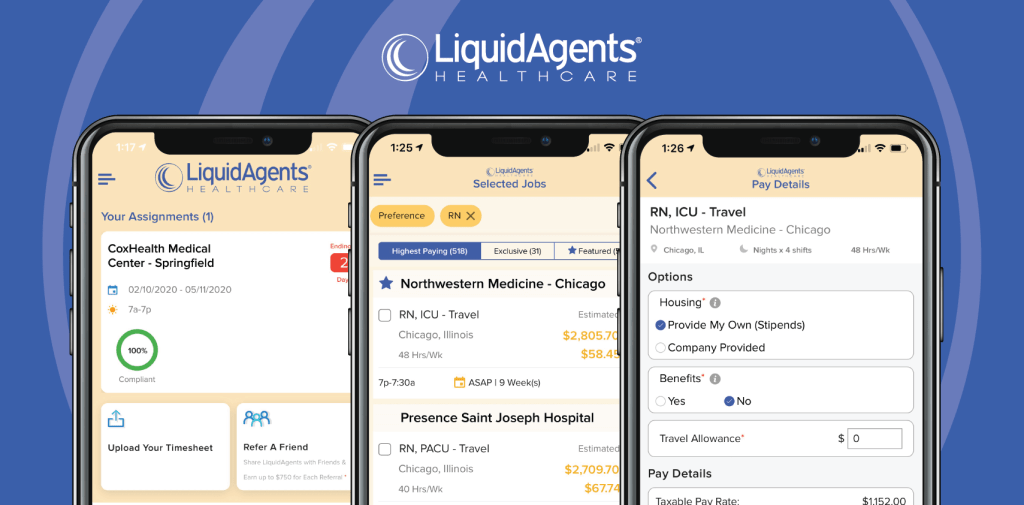 LiquidAgents Healthcare Launches New App for Nurses & Allied Health Professionals