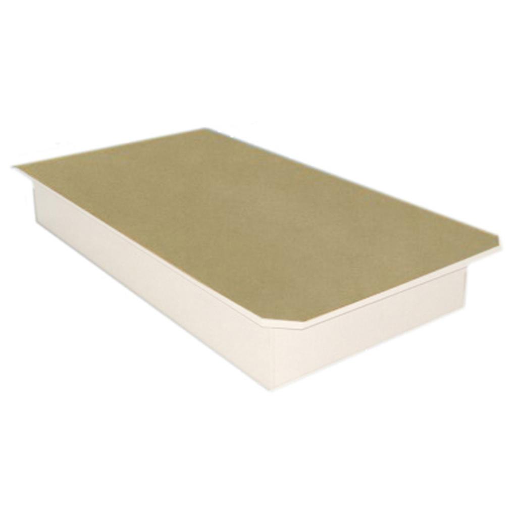 Plateforme De Lit Simple 85po De Hauteur Blanc