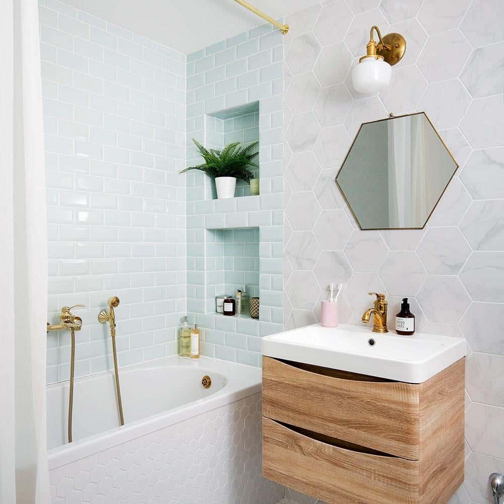 26 Small Bathroom Vanity Ideas - Liquid Image on Small Space Small Bathroom Ideas With Shower id=81778