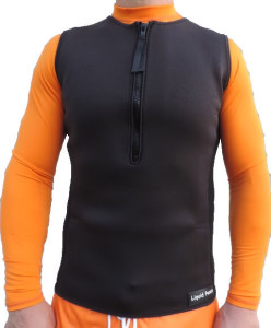 men's 2.5mm pullover wetsuit vest with half zip