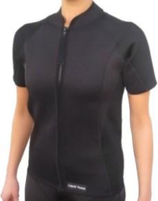 2mm wetsuit jacket, short sleeve, full front zipper