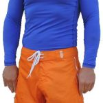 Men's Electric Blue, Long Sleeve, Rash Guard