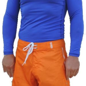 Men's Electric Blue, Long Sleeve, Rash Guard