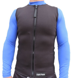 men's 2.5mm wetsuit vest with full front zipper