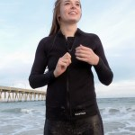 Women's 2-1mm Wetsuit Jacket, Full Front Zipper, Long Sleeve