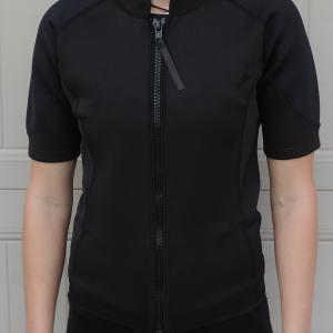 Women's 2mm Wetsuit Jacket, Full Front Zipper, Short Sleeve