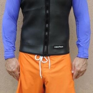 Men's 1.5mm Smooth Skin Wetsuit Vest, Full Front Zipper