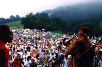 View from the stage at the Newport Jazz Festival at Madarao (Japan), August 2000.