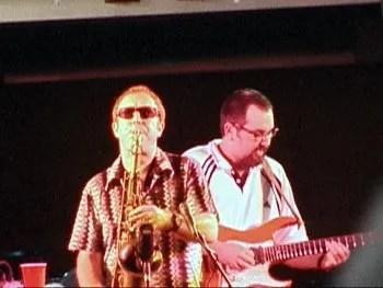 Mars and Tom at the Iowa City Jazz Fest, July 1999. (Photo by Ziggy Zerang.)