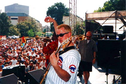 It was a beautiful day and a great crowd at the Music Midtown Festival in Atlanta (May 2000). Too bad we couldn't stay longer.