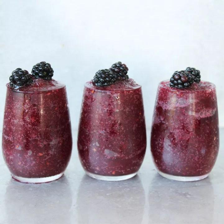 Blackberry Wine Slushy cocktail