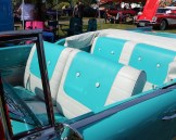 1957 Chevy Bel Air interior, turquoise blue and white upholstery
