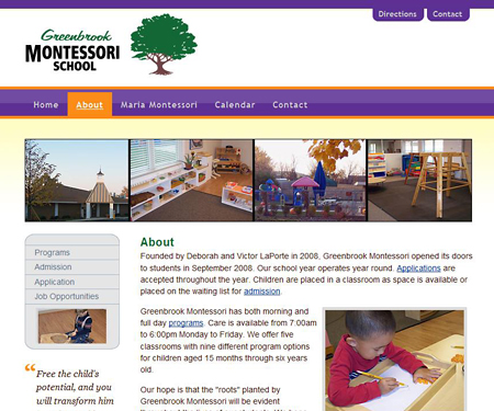 Greenbrook Montessori School website