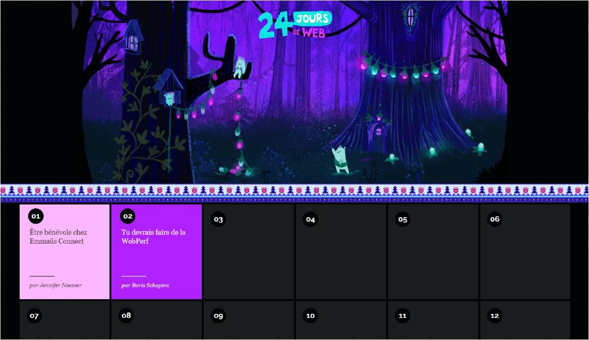 24 jours de web 2020 calendar.