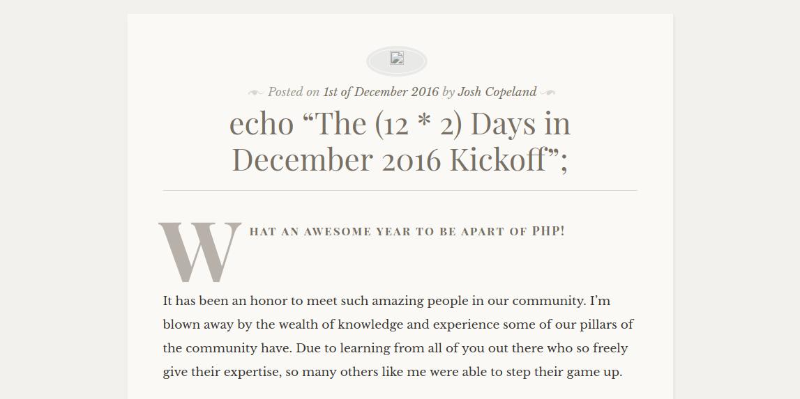24 days in December Advent Calendar for 2016