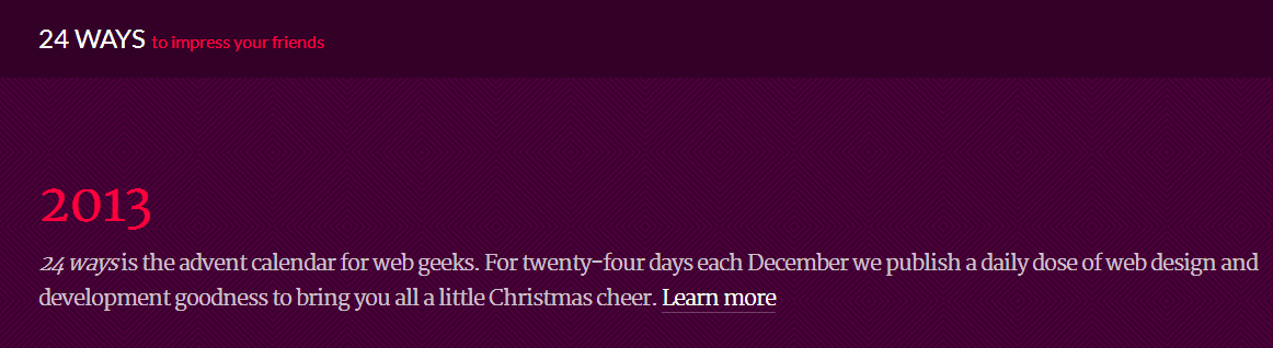 24 ways advent calendar