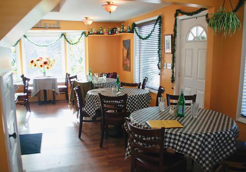 Amici Italian Bistro interior dining room
