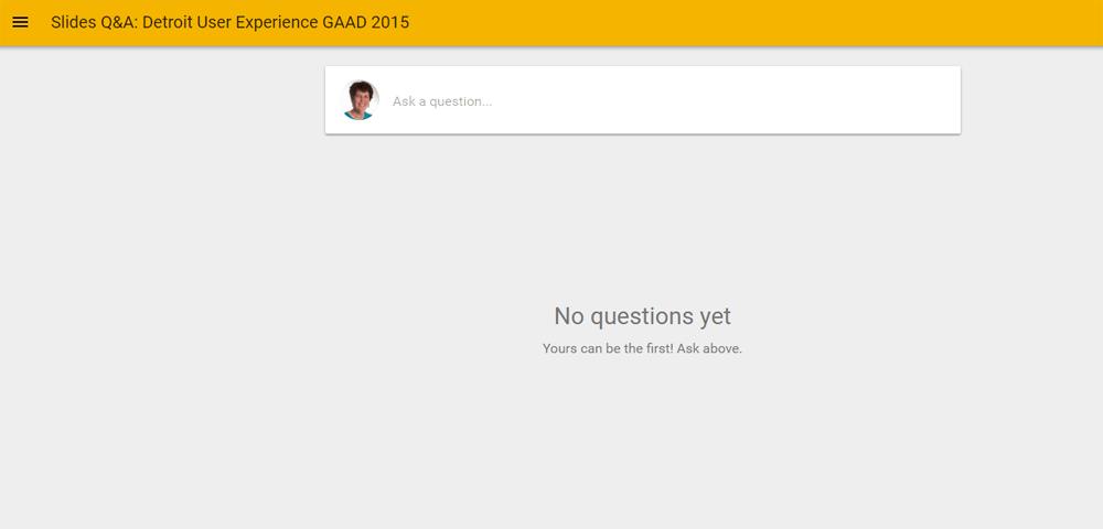 Google Slides Q&A: ask a question