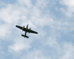 B-52 flys over the 2011 Plymouth Memorial Day Parade