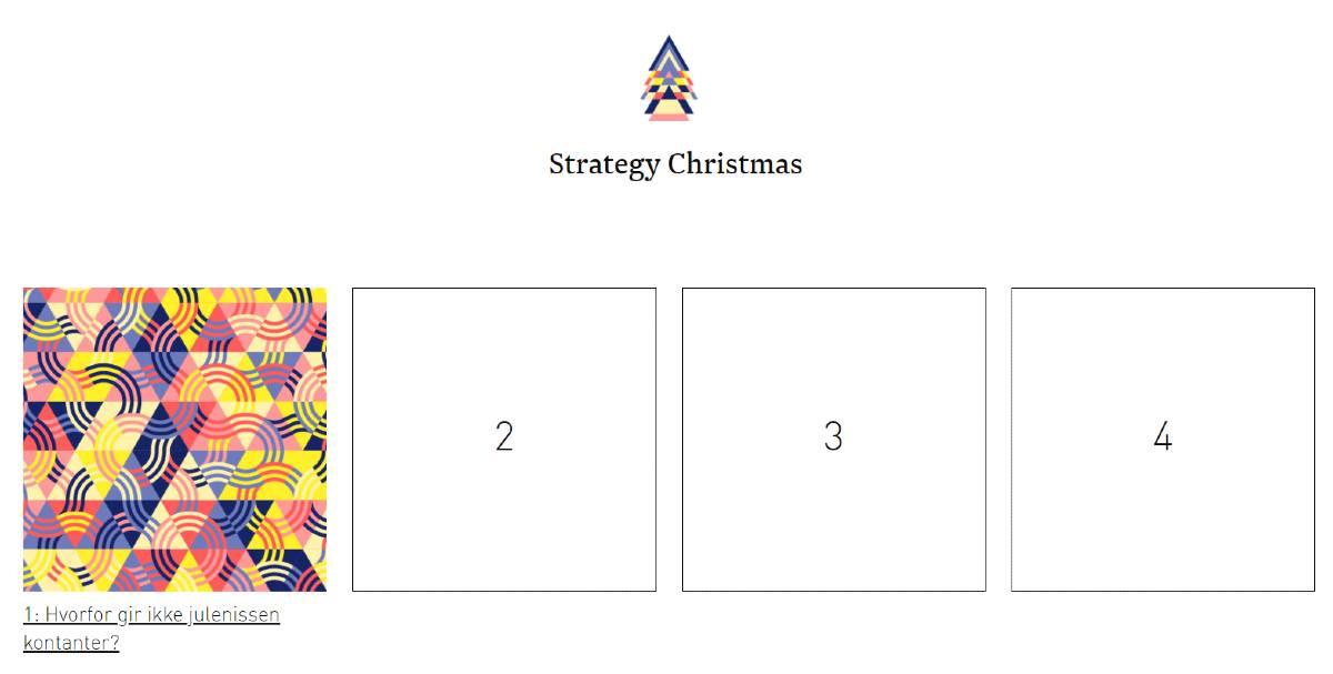Bekk Strategy Christmas Calendar 2020.
