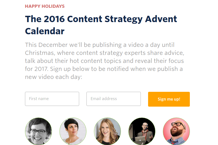 2016 Content Strategy Advent Calendar