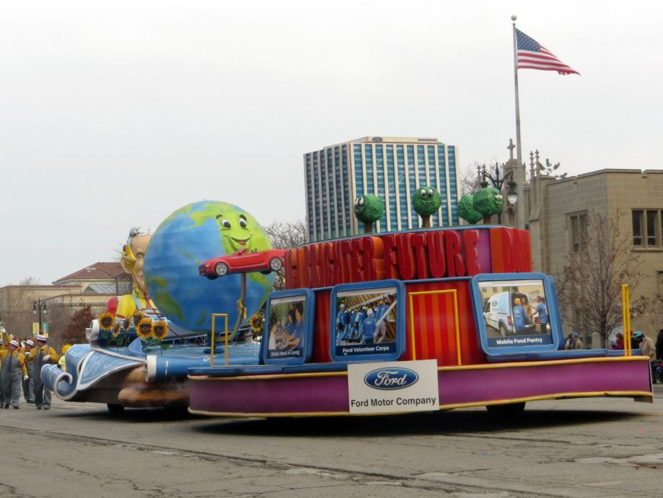 Ford Motor Company float at Detroit's Thanksgiving Day Parade