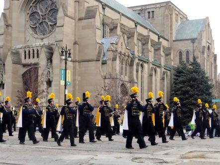 Marching band at Detroit's Thanksgiving Day Parade