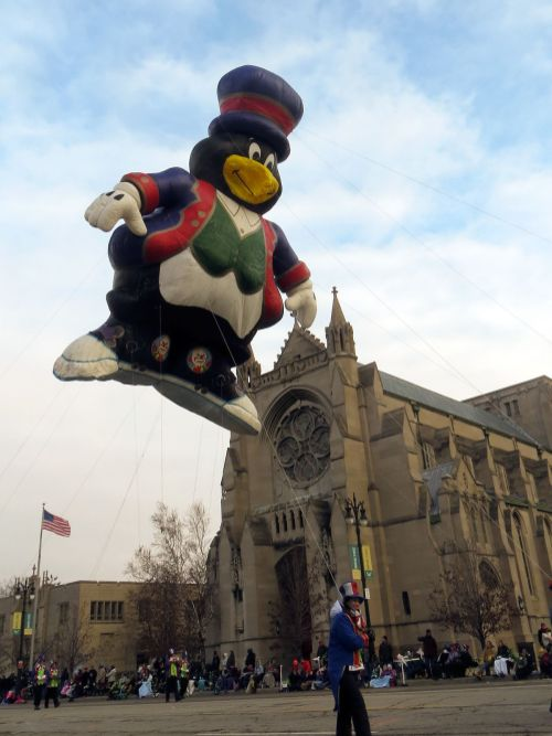 Willie float at Detroit's Thanksgiving Day Parade